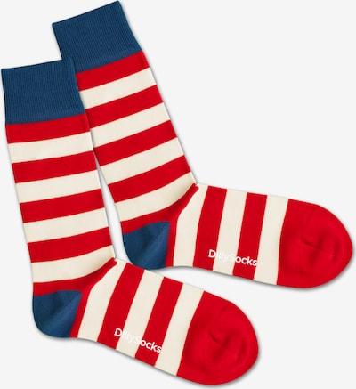 DillySocks Skarpety 'Waldo' w kolorze niebieski / czerwony / białym, Podgląd produktu