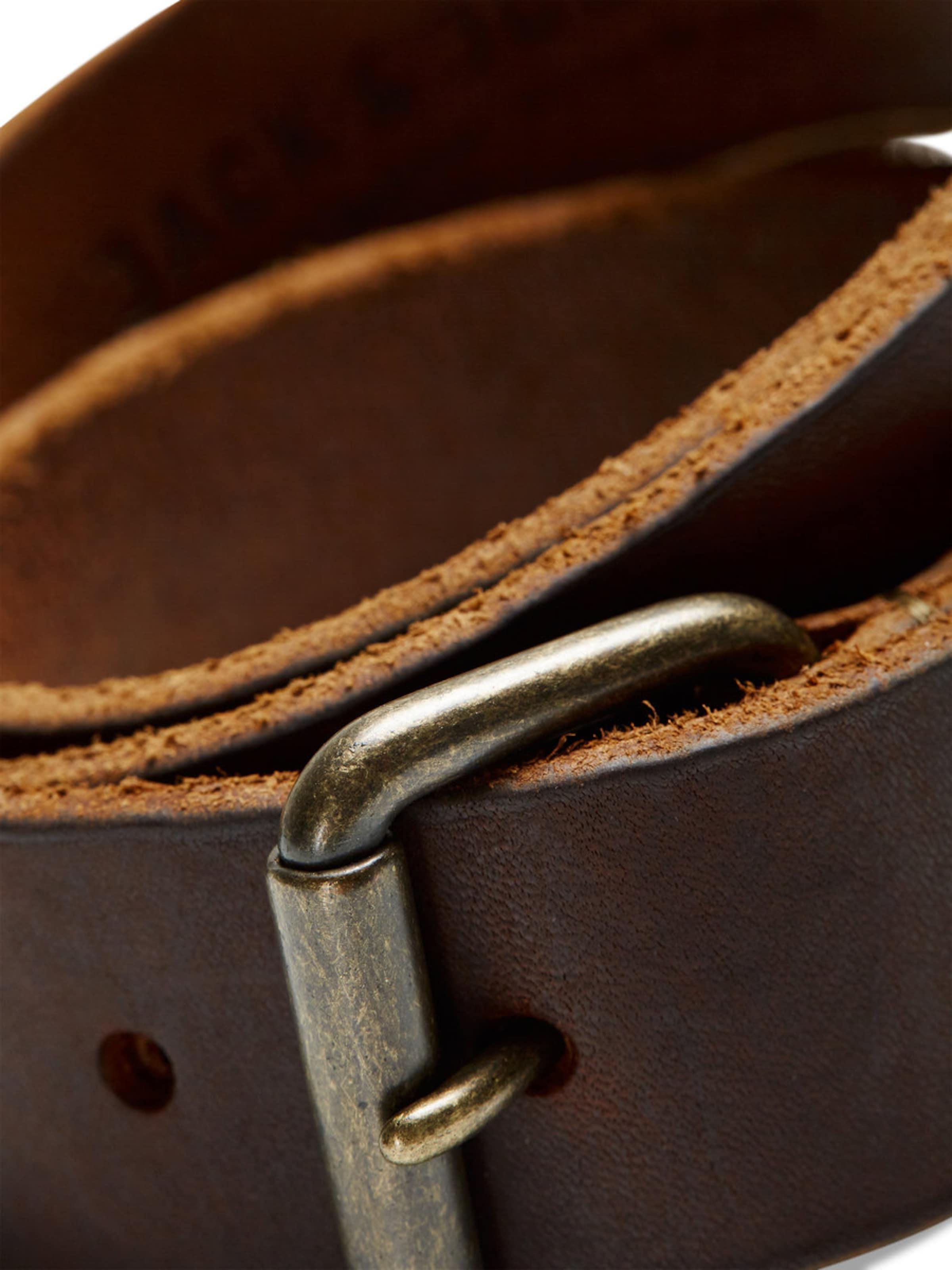 Auslasszwischenraum JACK & JONES Brauner Gürtel mit Rollschnalle Outlet Großer Rabatt pFJcblKDV