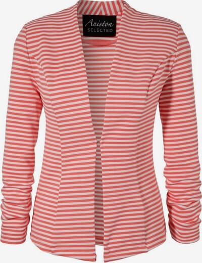 Aniston SELECTED Blazer in orangerot / weiß: Frontalansicht