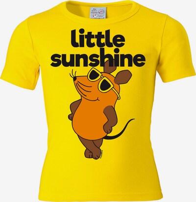 LOGOSHIRT T-Shirt 'Maus - Little Sunshine' in braun / gelb / schwarz, Produktansicht
