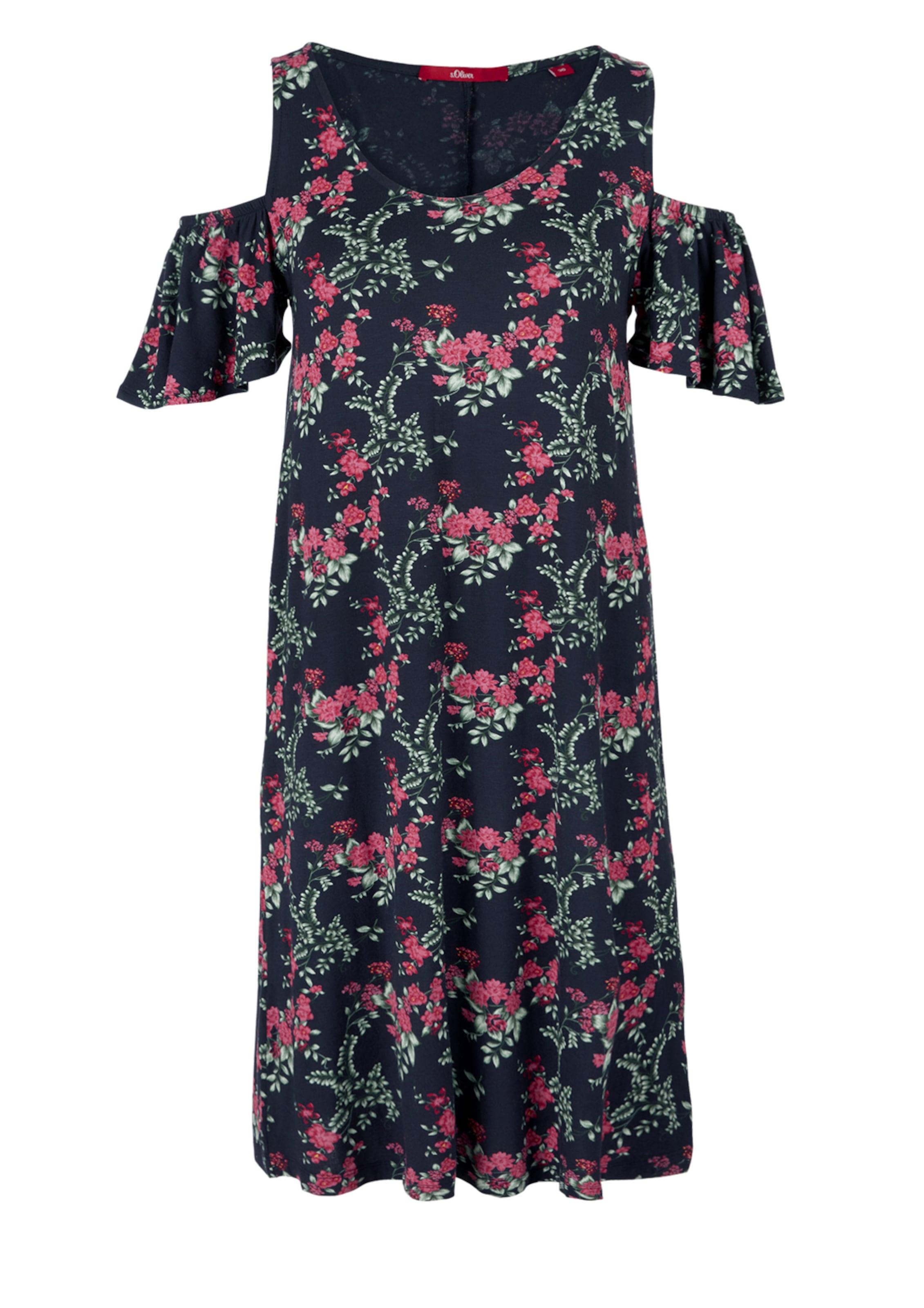 Kleid In DunkelblauHellgrün Pink S oliver Red Label K1lJcuTF3