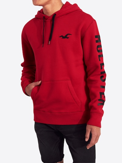 hollister hoodie rot herren