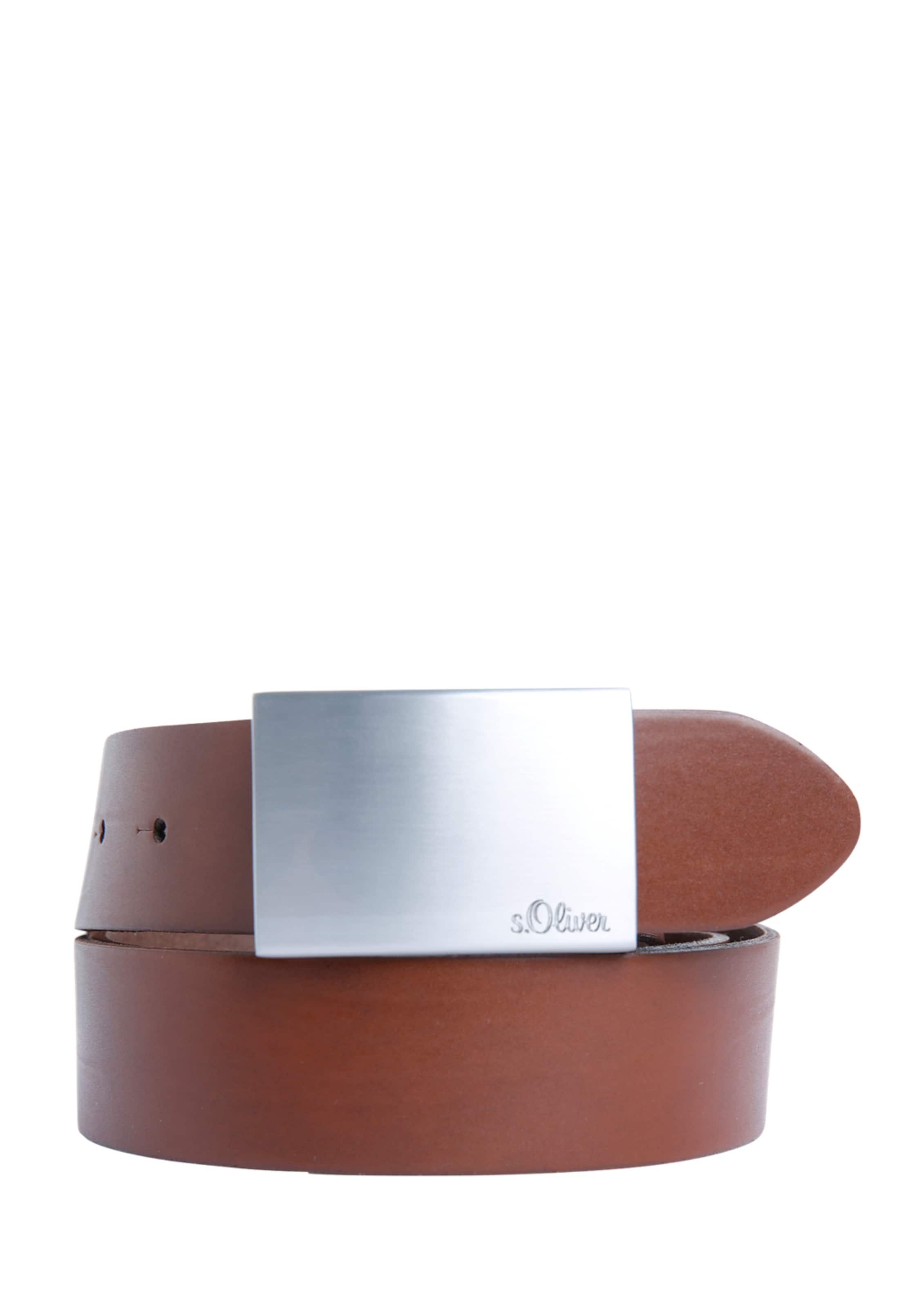 S BraunSilber Ledergürtel oliver In S Yf6v7gby