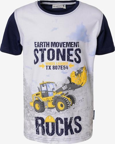 SALT AND PEPPER T-Shirt , Bagger in blau / gelb / hellgrau, Produktansicht