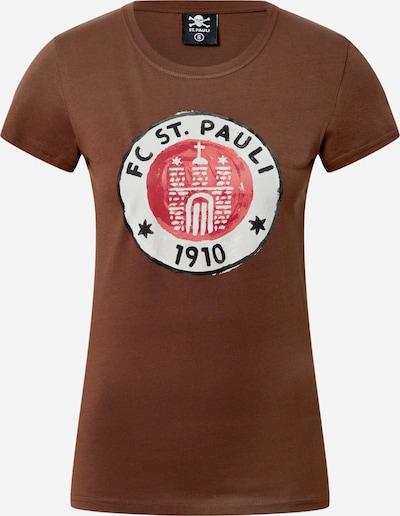 FC St. Pauli Тениска в кафяво / червено / бяло, Преглед на продукта