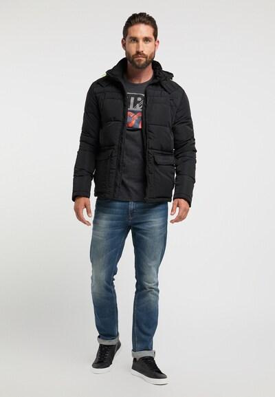 Petrol Industries Winterjas in de kleur Zwart, Productweergave