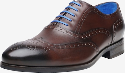 SHOEPASSION Businessschuhe durchgenäht 'No. 5570 BL' in blau / dunkelbraun, Produktansicht