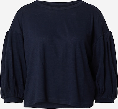 Banana Republic Shirt 'LS BALLOON SLEEVE COZY SLUB TOP' in de kleur Navy, Productweergave