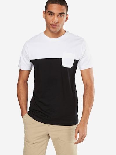 Urban Classics T-Shirt in schwarz / weiß: Frontalansicht