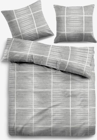 TOM TAILOR Bettwäsche in grau / weiß: Frontalansicht