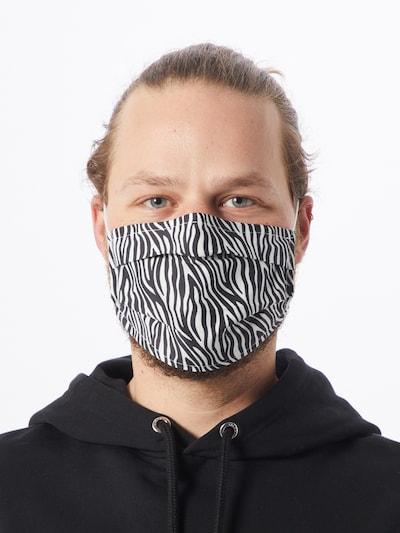 Zwillingsherz Stoffmasken '2er Pack Afrika' in schwarz / weiß: Frontalansicht