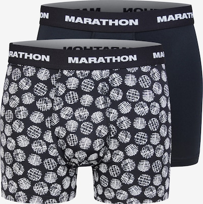 MARATHON Shorts in schwarz / weiß, Produktansicht