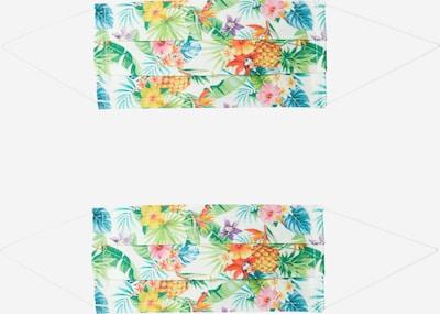 Mască de stofă '2er Pack Hawaii' Zwillingsherz pe culori mixte / alb, Vizualizare produs