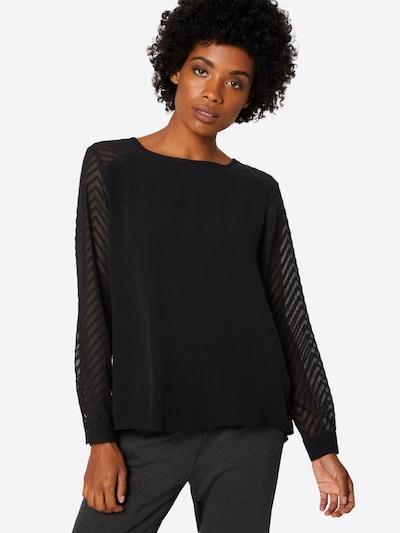 Bluză 'ZOE' OBJECT pe negru: Privire frontală