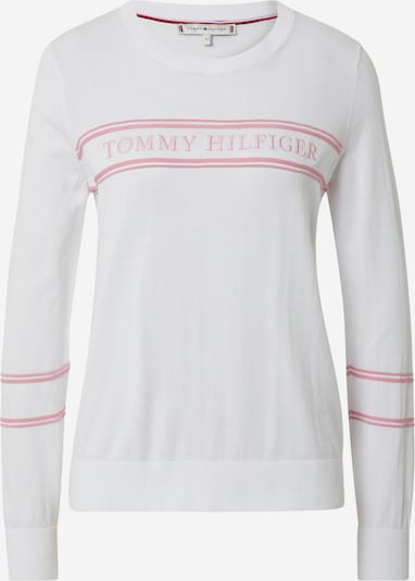 TOMMY HILFIGER Pullover 'BENJI' in rosa / weiß, Produktansicht