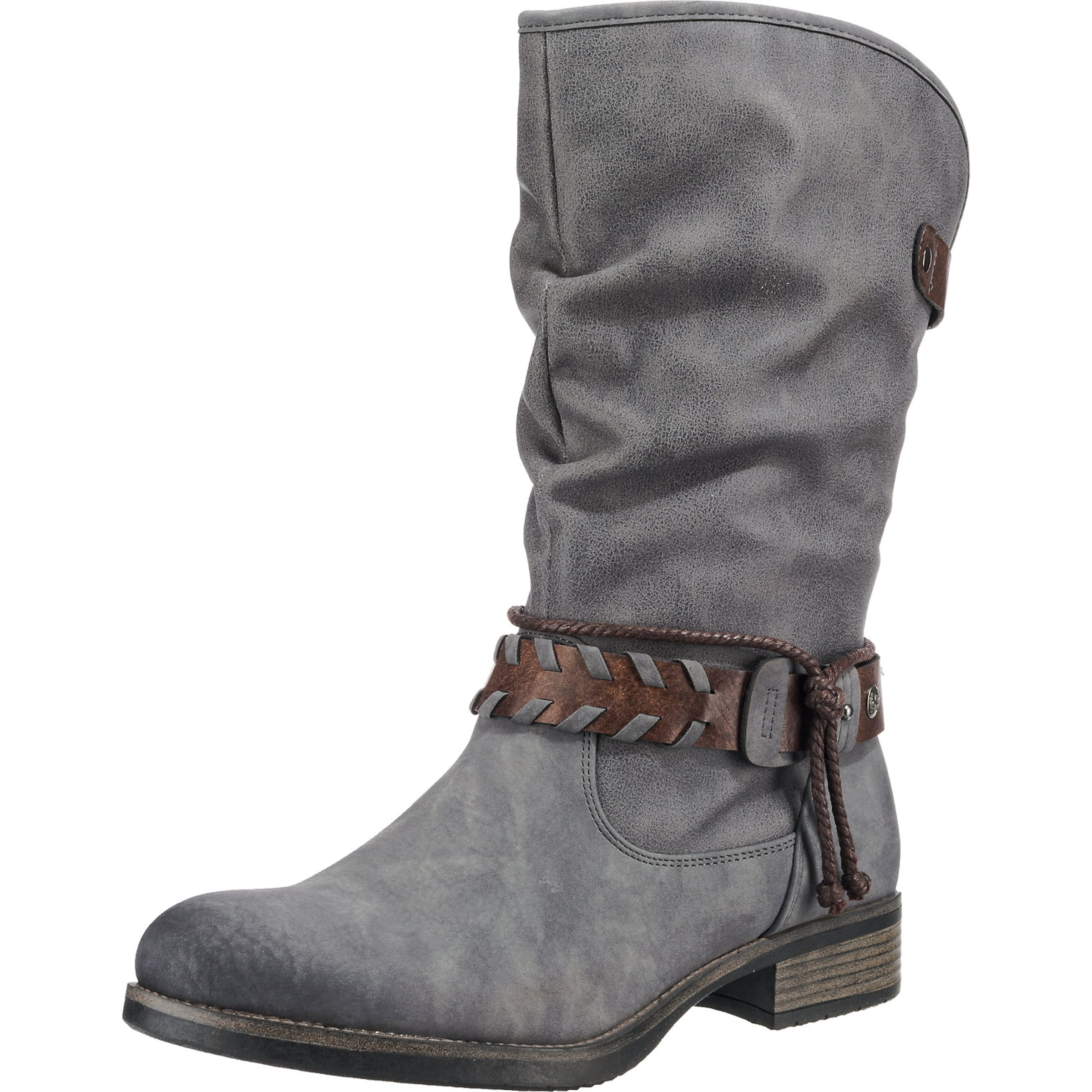 RIEKER Stiefel in braun   grau