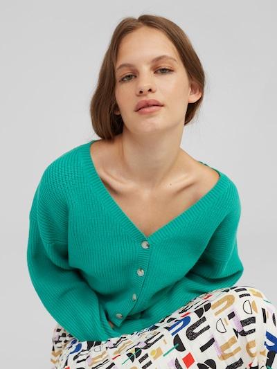 zöld EDITED Kardigán 'Brady', Modell nézet