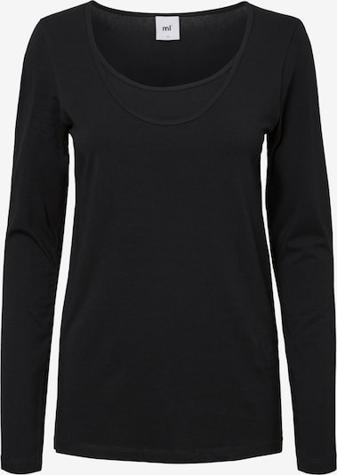MAMALICIOUS Shirt 'MLLEA ORG NELL L/S MIX TOP NF 2PACK A. O' in de kleur Zwart / Wit, Productweergave