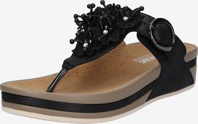RIEKER Zehentrenner in schwarz, Produktansicht