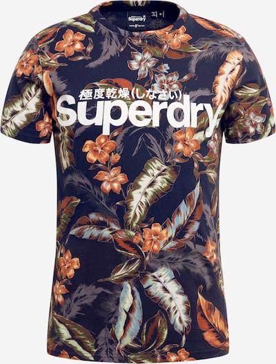 Superdry Shirt 'SUPER 5' in blau / navy / goldgelb / weiß, Produktansicht