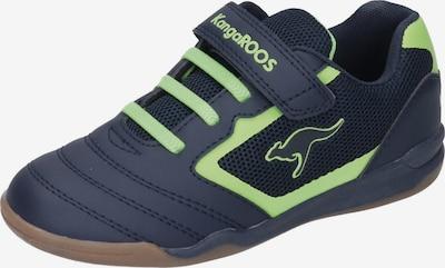 KangaROOS Sneaker in nachtblau / neongrün, Produktansicht
