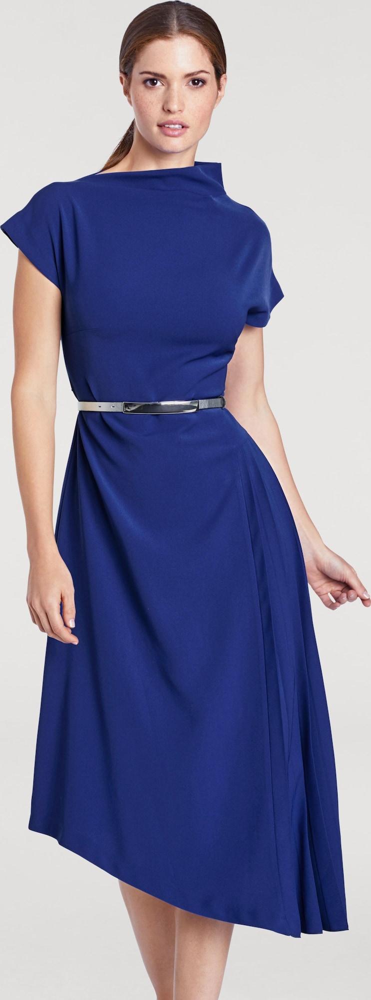ashley brooke by heine kleid mit bindeg rtel in blau about you. Black Bedroom Furniture Sets. Home Design Ideas