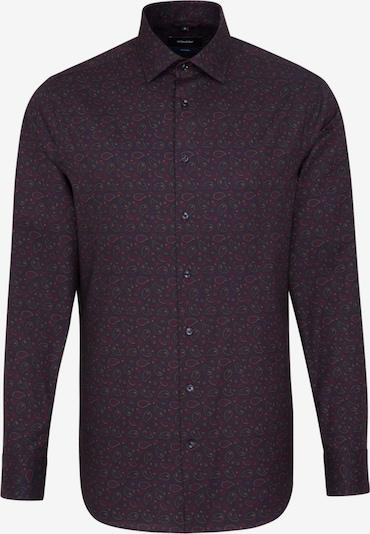 SEIDENSTICKER Overhemd in de kleur Kaki / Petrol / Bordeaux: Vooraanzicht