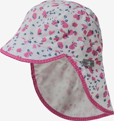 STERNTALER Schirmmütze mit Nackenschutz in blau / pink / weiß, Produktansicht