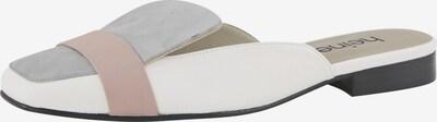 heine Pantolette in ecru / rauchblau / puder, Produktansicht
