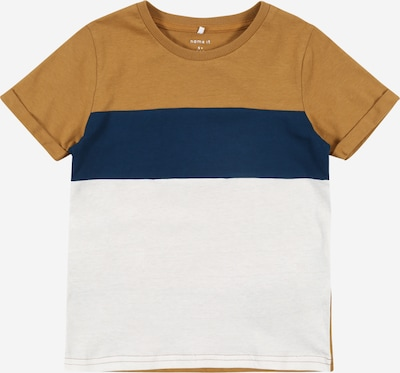 NAME IT Shirt 'KUT' in navy / bronze / weiß, Produktansicht