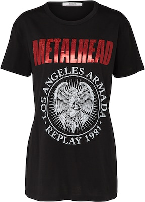 REPLAY Shirt 'METALHEAD'