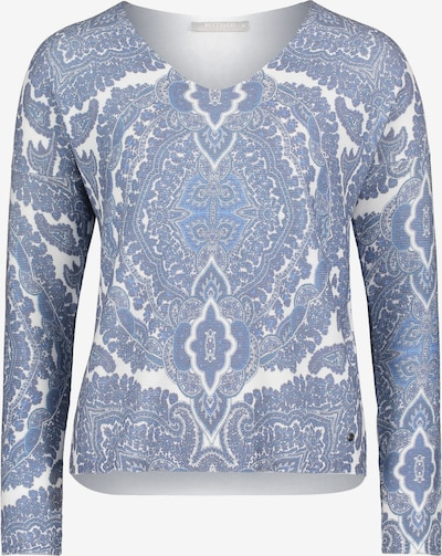 Betty & Co Strickpullover mit Print in blau, Produktansicht