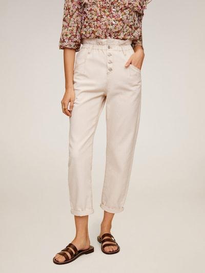 MANGO Jeans in naturweiß, Modelansicht