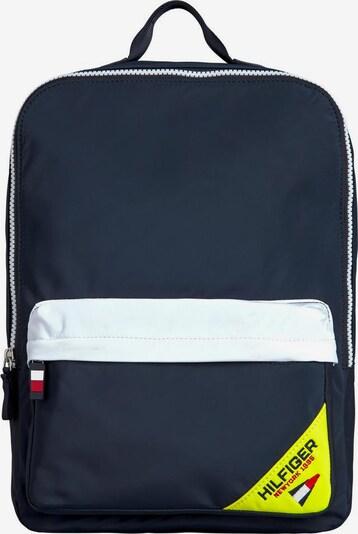 TOMMY HILFIGER Rucksack 'SQUARE' in dunkelblau / gelb / weiß, Produktansicht