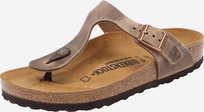 BIRKENSTOCK Chaussures ouvertes 'Gizeh N' en marron, Vue avec produit