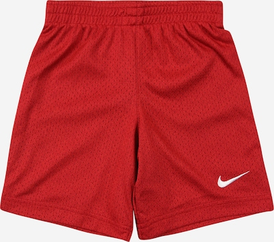 Nike Sportswear Shorts 'HEATHER' in dunkelrot / weiß: Frontalansicht