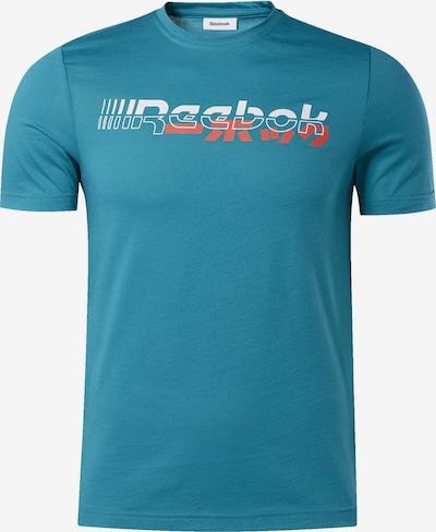 REEBOK Shirt in türkis / koralle / weiß, Produktansicht