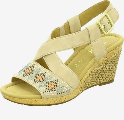 GABOR Sandalen/Sandaletten in gelb, Produktansicht
