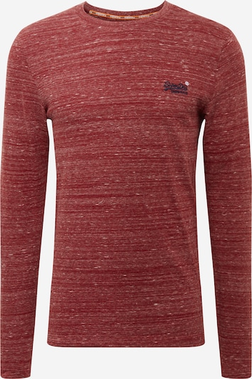 Superdry T-Shirt en rouge foncé, Vue avec produit