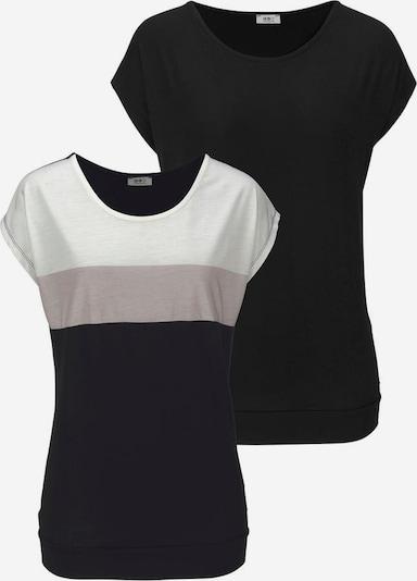 FLASHLIGHTS Shirt in taupe / schwarz / weißmeliert, Produktansicht