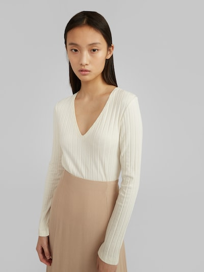 EDITED Shirt 'Elin' in creme, Modelansicht