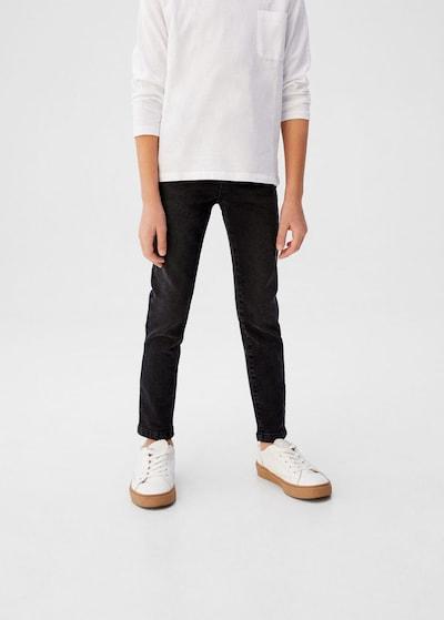 MANGO KIDS Jeans in schwarz: Frontalansicht