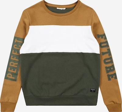 NAME IT Sweatshirt 'LIRON' in senf / oliv / weiß, Produktansicht