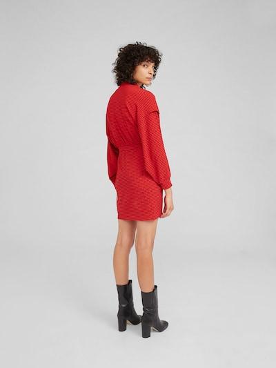 EDITED Kleid 'Imen' in rot / schwarz: Rückansicht