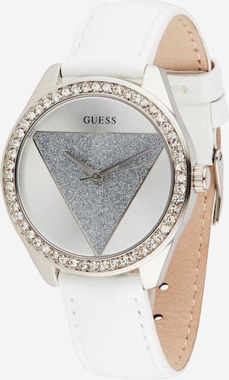 GUESS Analoog horloge 'Frontier' in de kleur Zilvergrijs / Zilver / Wit, Productweergave