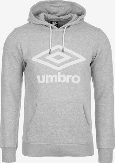UMBRO Hoodie in grau / weiß, Produktansicht