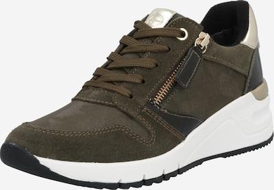 TAMARIS Sneaker in braun / schwarz / silber, Produktansicht