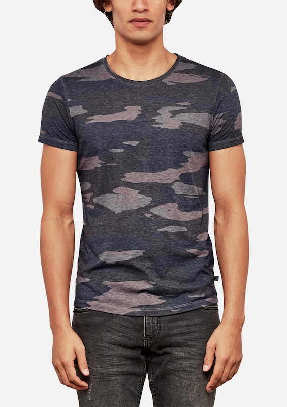 Q/S designed by T-Shirt mit Camouflage-Print
