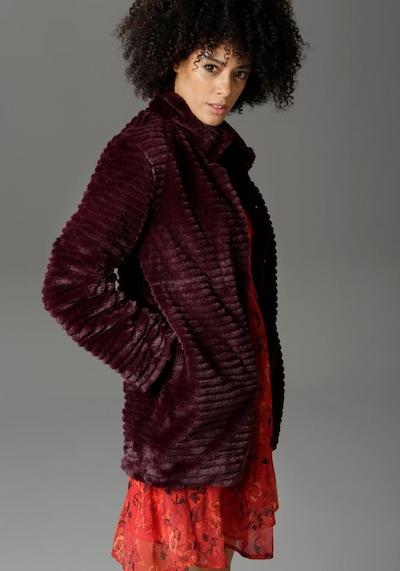 Aniston CASUAL Kurzmantel in pflaume, Modelansicht