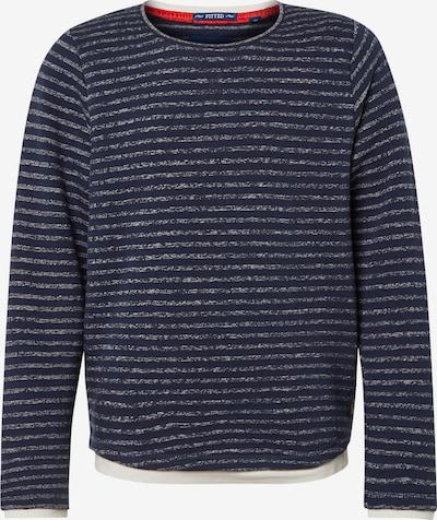 TOM TAILOR Sweatshirt in blau / grau: Frontalansicht